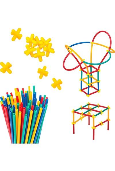4D Diy Süper Bambu Çubuklar Çocuk Bebek Beceri Geliştirme Oyuncağı 300 Parça