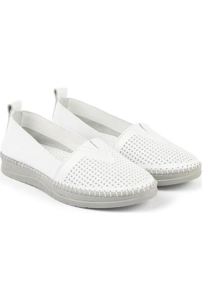 Libero Fms240 Bayan Babet Ayakkabı Beyaz