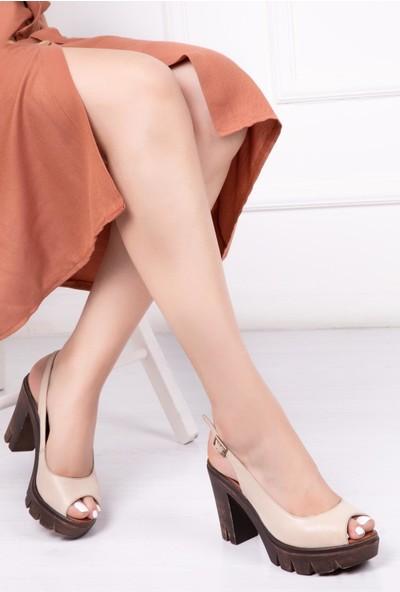 Deripabuc Kadın Deri Sandalet DP26-0304