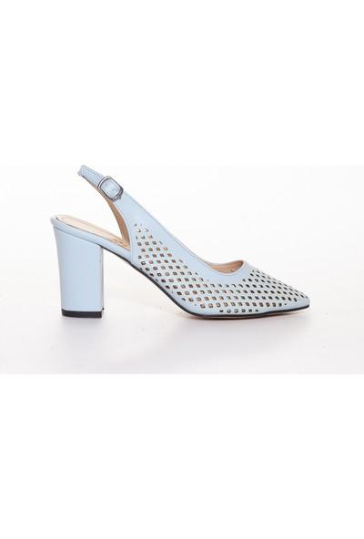Adaypark Kadın Mavi Topuklu Ayakkabı