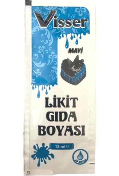 Visser Likit Gıda Boyası 12 ml Mavi