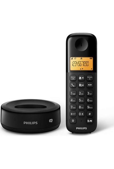 Philips D1651B/01 Kablosuz Dect Telsiz Telefon Siyah