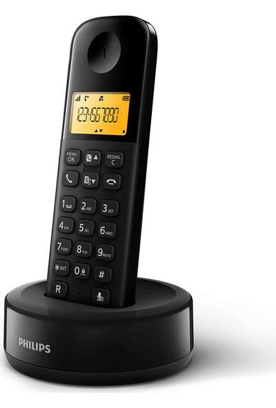 Philips D1601B/01 Kablosuz Dect Telsiz Telefon Siyah