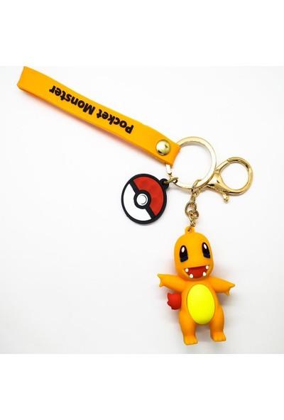 AlpCollection Pokemon Charmander 3 Boyutlu Plastik Anahtarlık