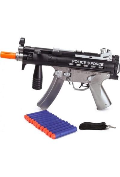 Toyaş Sünger Atan Polis Tüfeği Işıklı & Titreşimli 12 Mermi MP5KA4