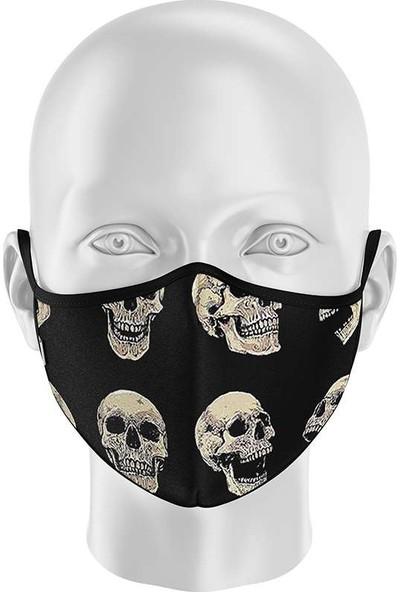 İpeks Unisex Yıkanabilir Kumaş Maske Kuru Kafa
