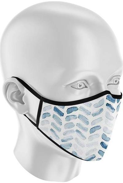 İpeks Unisex Yıkanabilir Kumaş Maske Mavi