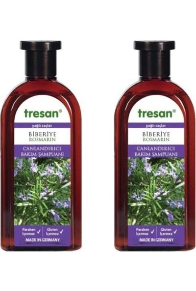 Tresan Canlandırıcı Bakım Şampuanı - Biberiye 500 ml 2 Adet