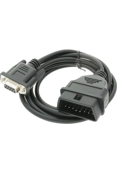 OEM Obd2 - DB9 Araç Arıza Tespit Cihazı Kablosu RS232 Adaptörü