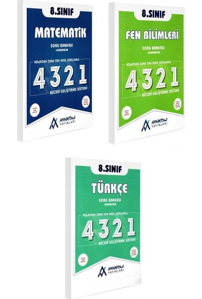 Avantaj Yayınları 8. Sınıf Matematik Fen Bilimleri Türkçe Soru Bankası Seti 3 Kitap