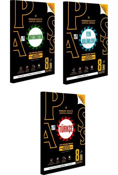 Startfen Yayınları Pass 8. Sınıf Yeni Nesil Matematik Fen Türkçe Soru Bankası Seti 3 Kitap