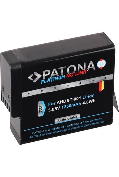 Patona Gopro Hero 8 AHDBT-801 Hero 7 AHDBT-701 Hero 6 Hero 5 AHDBT-501 İçin AHDBT-801 Platınum Batarya