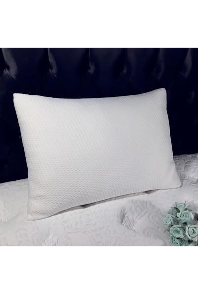 Yoga Visco Dolgulu Comfort Beyaz Yastık, Visco Akıllı Sünger Dolgulu Yastık (50 x 70 cm)