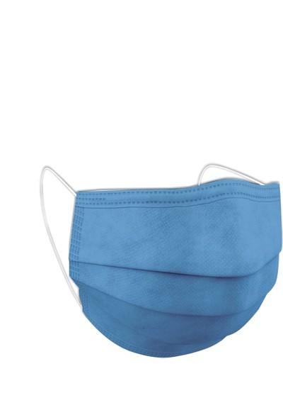 HH Tek Kullanımlık 3 Katlı Telli Mavi Çocuk Maskesi 100 Adet