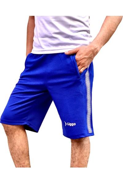 Liggo Erkek Şort Kapri 3 Cep Fermuarlı Spor Şort