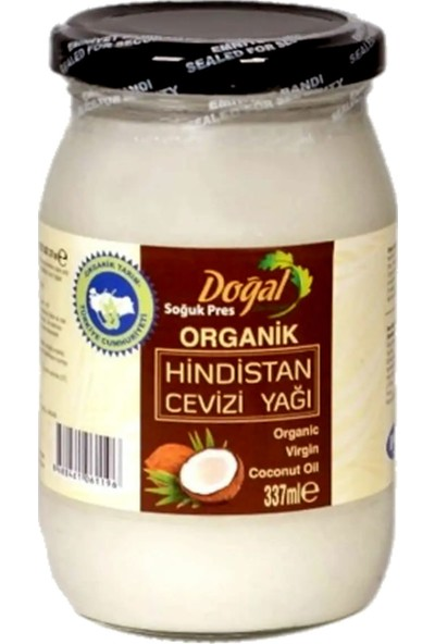Doğal Doktorum Organik Hindistan Cevizi Yağı Büyük Boy 337 ml