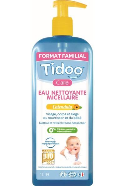 Tidoo Organik Misel Bebek Temizleme Suyu 1000 ml Nemlendirici ve Koruyucu - Aynı Sefa Kadife Çiçeği Özlü