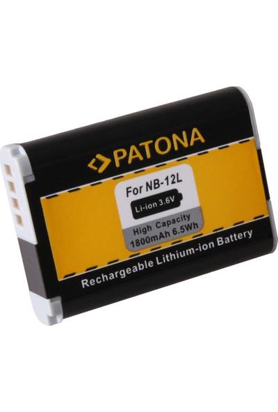 Patona Canon Legria Mini X Vixia Mini x Powershot G1 İçin NB-12L Batarya
