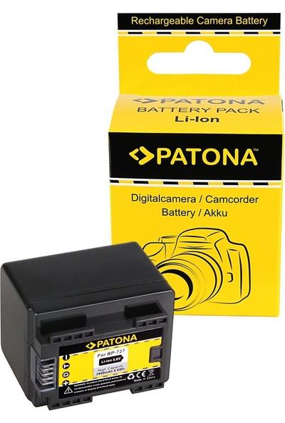 Patona Canon Hf R36 HF38 HF306 HFR46 HF48 HF406 İçin BP-727 Batarya