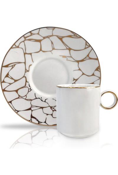 Winterbach Beyaz Altın 6'lı Türk Kahvesi Fincanı Desen4
