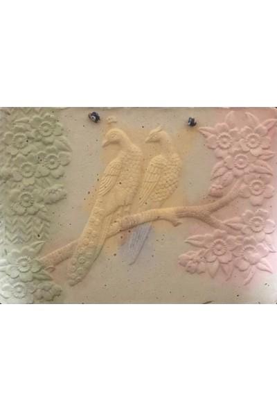 By Fresh Dal ve Kuşlar Kabartma Tablosu 19 x 26 cm