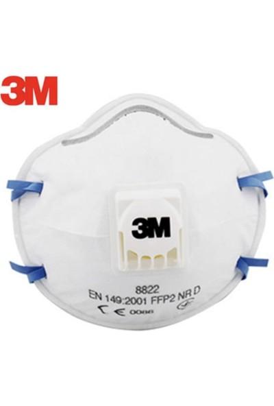 3M 8822 Ffp2 N95 Ventilli Solunum Koruyucu Maske-1Adet