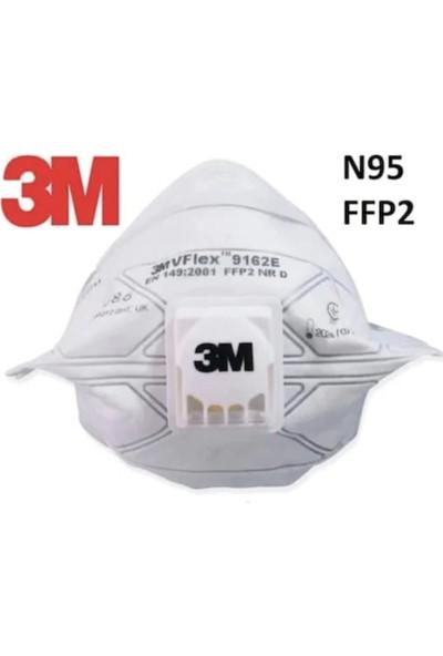 3M 9162E Vflex Ffp2 N95 Ventilli Solunum Koruyucu Maske-10 Adet