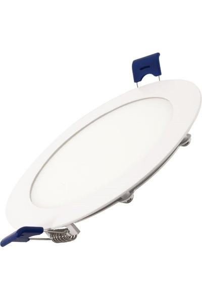 Ack 12W 6500K Beyaz Sıva Altı Yuvarlak LED Panel Armatürü AP01-01230