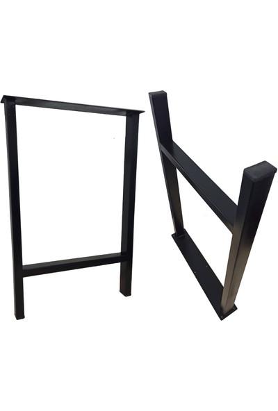 Bin1Fırsat Masa Ayağı Ev Bahçe Ofis İş Yeri Kütük Masa Ayağı Metal Ayak 50X76Cm