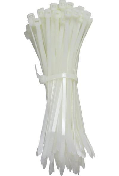 Ekoset Kablo Bağı Plastik Cırt Kelepçe Siyah 3,6 x 200 mm 100'lü