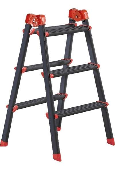 Elbe Siyah 3+3 Çift Çıkışlı Metal Merdiven