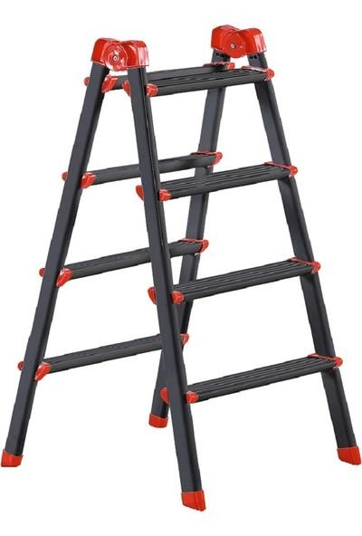 Elbe Siyah 4+4 Çift Çıkışlı Metal Merdiven