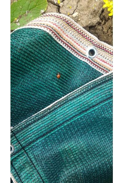 Erkim Çuval Ambalaj Gölgelik File 1X80 Mt %95 Gölgelik Kumaş Gölgeleme Çit Örtüsü Yeşil Kuşgözlü + Kolonlu