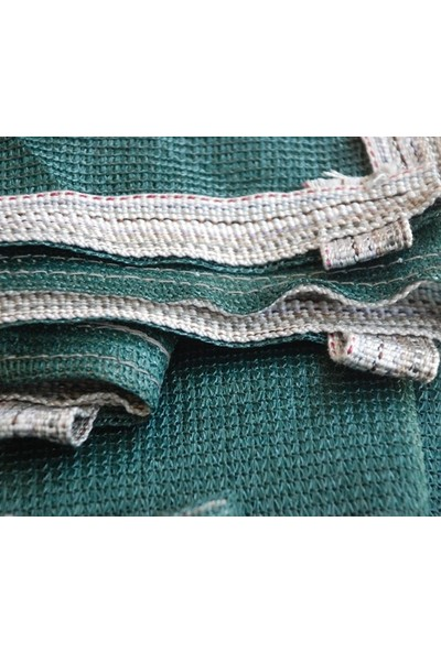 Erkim Çuval Ambalaj Gölgelik File 4X15 Mt %95 Gölgelik Kumaş Gölgeleme Çit Örtüsü Yeşil Kuşgözlü + Kolonlu