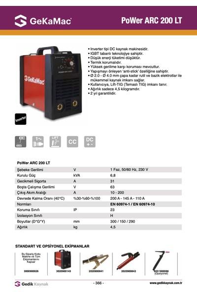 Gekamac Arc 200 Lt (İnverter Elektrot Kaynak Makinesi)