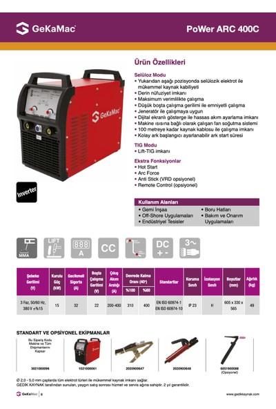 Gekamac Plus Arc 400 C (İnverter Elektrot Kaynak Makinesi)