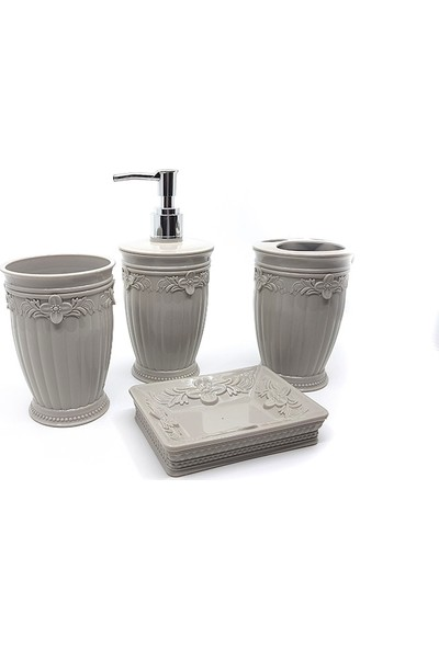 Nargo Banyo Dekorasyon Seti Sultan Kabartma 4Lü Set