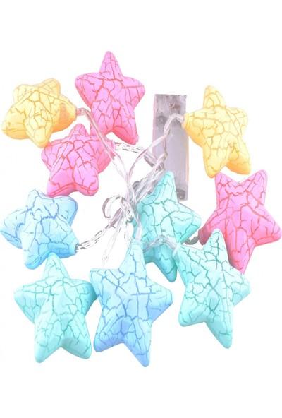 NESİL 10Lu Renkli Yıldız Şeklinde Dolama Led 1,5 Metre