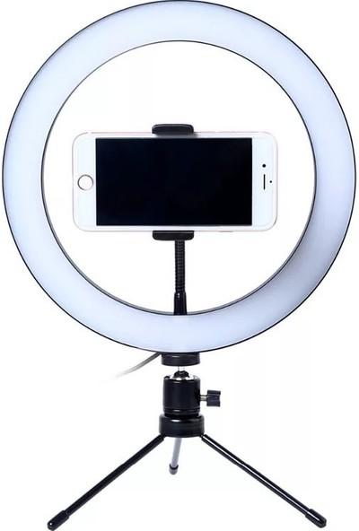 NESİL Video Çekimi Makyaj Çekimi Oda Çekimi Selfie Telefon Tutuculu Led Ayaklı Halka Işık
