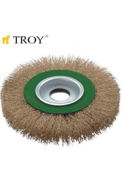 Troy 27704-200 Saçaklı Daire Fırça Tel Fırça Spirel Taşlama 200Mm