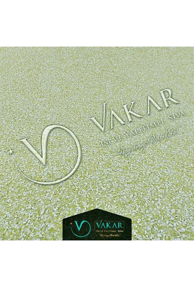 Vakar Canlı Sıva İpek Sıva Dekoratif Sıva Pearl 13 Fıstık Yeşil