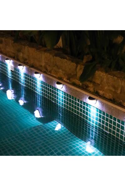 Yukka 2 Adet Işık Sensörlü Güneş Enerjili Lamba Paneli 6 Led Su Geçirmez Bahçe Yolu Lambası (Beyaz Işık)