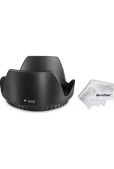 Tianya Nikon D5000 D5100 D5200 18-55 mm Lens İçin 52 mm Yaprak Parasoley