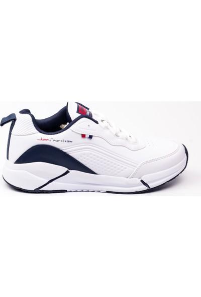 Jump 25662 Beyaz Erkek Sneaker Ayakkabı