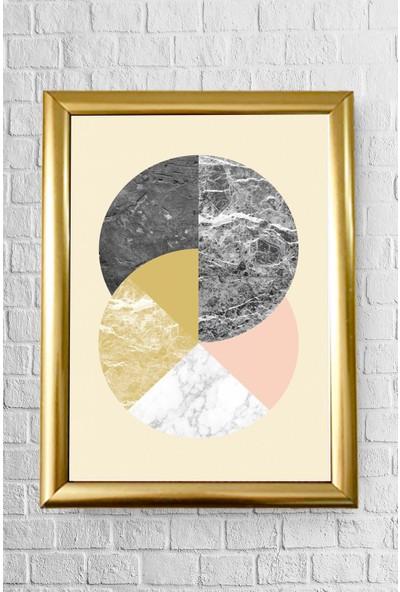 Lyn Home Decor Içiçe Yuvarlak Çerçeveli Poster Tablo 23.5 x 33,5 cm