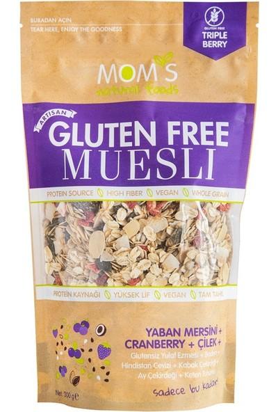 Mom's Natural Foods Glutensiz Yaban Mersini ve Çilekli Müsli 300GR
