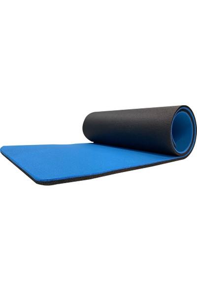 Dafron Yoga Pilates Mat Minderi 180 x 60 x 1 cm DF180 Mavi - Siyah