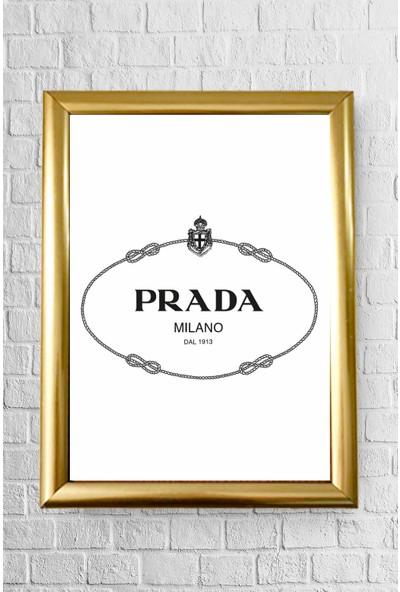 Lyn Home Decor Prada Çerçeveli Poster Tablo 23.5 x 33,5 cm