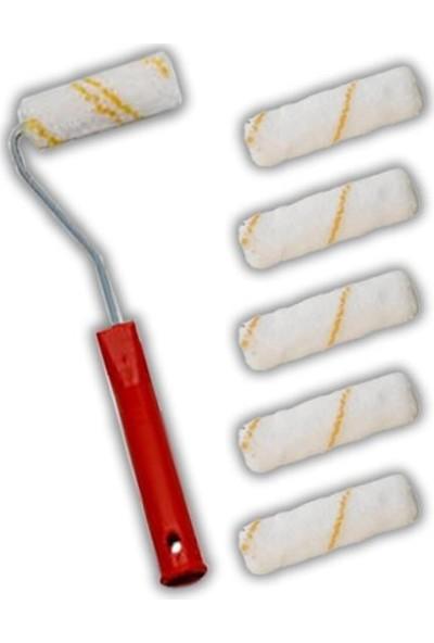 İzmir Fırça 10cm Kalorifer Rulosu + 5 Adet Yedek