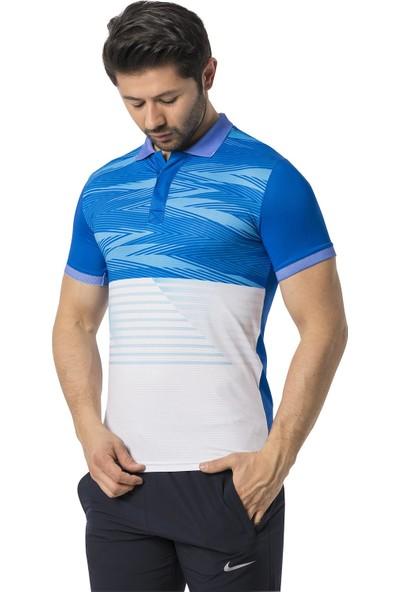 Crozwise Polyester Mesh Polo Yaka Erkek T-Shirt